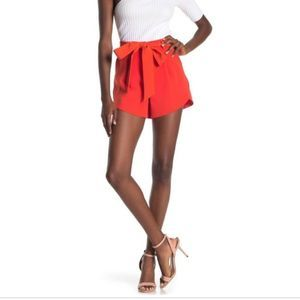 Milly Italian Cady Petal Shorts Orange NWT 12